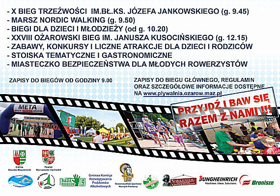 Dzień Sportu: 28 Bieg Ożarowski im. Janusza Kusocińskiego 4 czerwca 2016 r. w Ożarowie Mazowieckim
