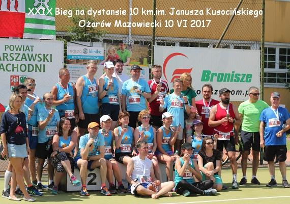 Ożarów Biega. XXIX Bieg na 10 kilometrów im. Janusza Kusocińskiego. Ożarów Mazowiecki 10 czerwca 2017 r.